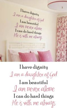 Positive Affirmations Wall Decal - a must for my daughters room