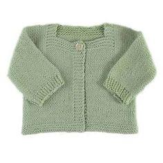 Cardigan bébé Victoire- modèle à tricoter - Modèles de tricot chez Makerist