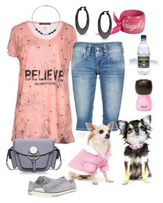 """""""Naughty Dog"""" by naviaux ❤ liked on Polyvore featuring Naughty Dog, Pepe Jeans London, Converse, Hip Doggie and Bling Jewelry"""