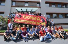 #Galatasaray Soma Taraftar Derneği, Florya Metin Oktay Tesisleri'ni ziyaret etti.