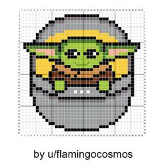Who Can Resist this Baby Yoda Pattern? - Melty Beads - Who Can Resist this Baby Yoda Pattern? Who Can Resist this Baby Yoda Pattern? Cross Stitching, Cross Stitch Embroidery, Hand Embroidery, Diy Perler Beads, Perler Bead Art, Cross Stitch Charts, Cross Stitch Designs, Cross Stitch Kids, Star Trek Cross Stitch