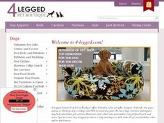 Check out 4-Legged.com Pet Boutique, luxury items for dogs, cats and pet lovers