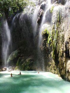 Tumalog Falls, Oslob, Cebu - Perfect for swimming http://wanderlusting.me/lifeinthephilippines/local-places/tumalog-falls-oslob-cebu/