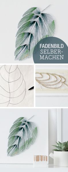 Try These Best DIY Projects For Your Home Decoration DIY Thread Leaf Wall Art. Wall art doesn't have to be expensive to look good. Create this elegant leaf wall art with thread and nails and add a touch of elegance to your living space. Leaf Wall Art, Diy Wall Art, Diy Artwork, Diy Wall Decor, Cool Diy Projects, Art Projects, Weekend Projects, Backyard Projects, Projects To Try