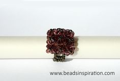 swarovski, beads, superduo, ring, anillo Swarovski, Beads, Rings, Beading, Pearls, Ring, Seed Beads, Ruffle Beading, Twin Beads