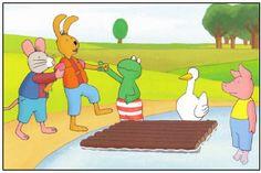 Platen van het boek: Kikker en de warme dag