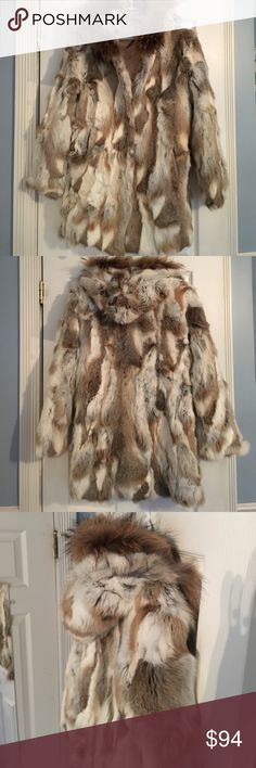Hooded Fur Coat *work once* Beautiful Fur coat with hood | size Small | worn once | polyester lined | Jackets & Coats