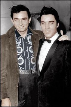 Two icons. Johnny Cash and Elvis Presley
