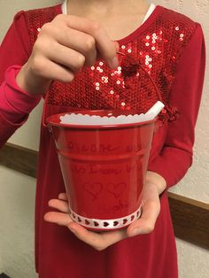 A fun Valentine's Day activity making love buckets for LDS Activity Day girls.