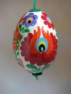 Hand-painted Hungarian Easter egg (I use for Christmas ornaments)