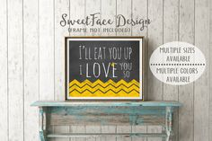 I'll Eat You Up I Love You So nursery art print, Where The Wild Things Are nursery decor, baby room, baby shower, children's book nursery by SweetFaceDesign on Etsy https://www.etsy.com/listing/189017511/ill-eat-you-up-i-love-you-so-nursery-art