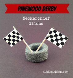 Pinewood Derby Neckerchief Slide #PinewoodDerby #CubScouts #CubScout #Scouting #Webelos #ArrowOfLight #KidsActivities #CubScoutIdeas