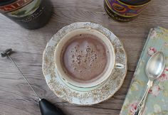 Creamy, frothy & chocolatey but with a shot of Irish cream liqueur, this is no ordinary hot chocolate. The perfect drink to make to wind down in the evening. Delicious Chocolate, Chocolate Recipes, Hot Chocolate, Healthy Christmas Recipes, Healthy Recipes, Cacao Recipes, Cream Liqueur, Dairy Free Milk, Baileys Irish Cream