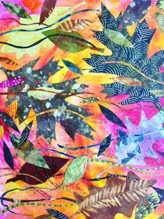 """""""Autumn Wind,"""" collage/acrylic on canvas, by Barbara Larned"""