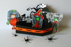 Graph'It Markers, Halloween, Halloween 3d Crafts, Halloween Party, Halloweeny Molly, Mini Wryn Zombie, Polychromo Pencils, Tiddly Inks, Witchy Molly,