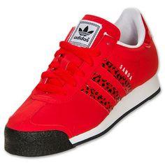 Womens adidas Samoa Casual Shoes| FinishLine.com | Vivid Red/Running White/Black
