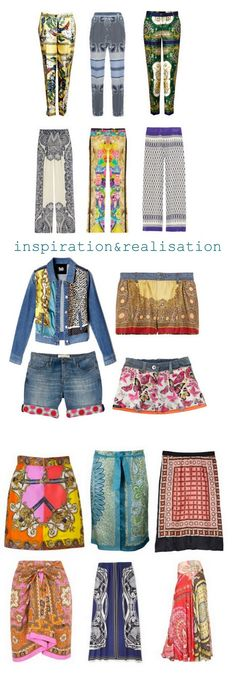 DIY alterations with scarves: ideas for pants or skirts