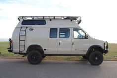 Sportsmobile Custom Camper ...Aluminess Roof rack, front and rear bumpers and ladder