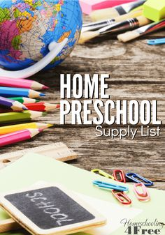 With a little time and a few basic supplies, you can teach your preschooler everything they need to know, right at home! This home preschool supply list can help get your started!