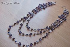Create a DIY necklace with that has just the right amount of girlyness, while still maintaining a strong and powerful vibe. Learn how to make a Purple Three-Strand Necklace you are sure to adore. This crystal necklace is versatile and classy.
