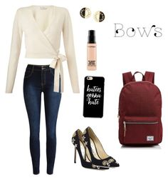 """""""Untitled #136"""" by jesspower on Polyvore featuring Miss Selfridge, Herschel Supply Co., Jimmy Choo, Chanel and MAC Cosmetics"""