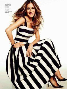 Sarah Jessica Parker stripes!