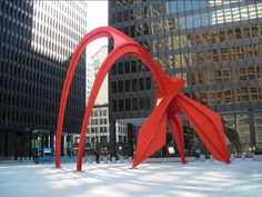 Chicago street art - it's the best. Sure, fabulous museums house incredible art, however, some of the best art in Chicago can be seen right on the streets. Wassily Kandinsky, Man Ray, Alexander Calder Sculptures, Illinois, Chicago Street, Miro, Le Jolie, Art For Art Sake, Land Art