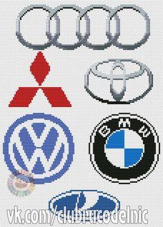 """""""Хомячки"""" - рукоделие - схемы - вышивка крестом Car Logos, Auto Logos, Diy Perler Beads, Brick Stitch, Stitch 2, Instagram Logo, Chicago Cubs Logo, Cross Stitching, Pixel Art"""