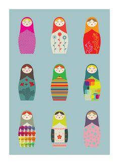 Matryoshka Russian Dolls by Laurence Briand