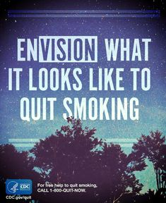 When you quit smoking you can see improvements in your vision. Repin to share the motivation. You can quit smoking. For free help: 1-800-QUIT-NOW. #quitsmoking