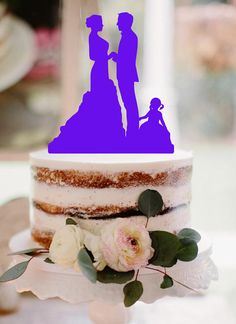 Wedding Cake Topper Couple Reading Bride And Groom Weddin
