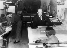 The French architect LE CORBUSIER in his workroom on rue de Sevres in Paris…