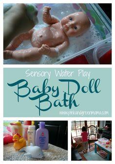 Preschool At Home: Washing Baby Dolls - sensory water play!