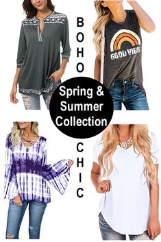c9162e25 Boho clothing tops, blouses and bohemian style tees. Creative hippie vibe  for mindful positive