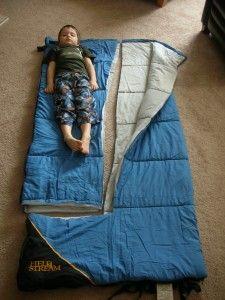diy kids sleeping bag