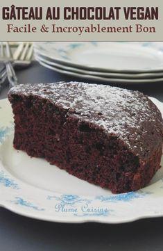 Vegan Dessert Recipes, My Recipes, Sweet Recipes, Patisserie Vegan, Best Vegan Chocolate, Chocolate Cake, Gateaux Vegan, Cas, Eat Better