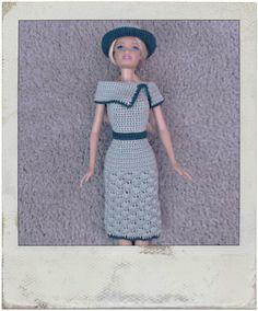 Crochet - Barbie's Shell Stitch Dress & Hat