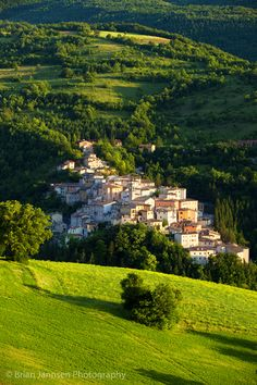 The medieval town of Preci, Umbria Italy. © Brian Jannsen Photography