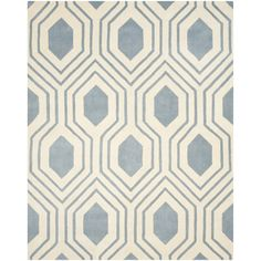 Beachcrest Home Mims Hand-Tufted Blue/Ivory Area Rug Rug Size: