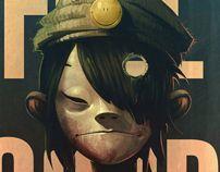 """Great fan art for the #Gorillaz """"FEEL GOOD"""" by Gendy mohammed, via Behance"""