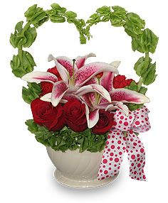 heart flower arrangement - Buscar con Google