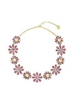 Versace - Floral Swarovski Necklace