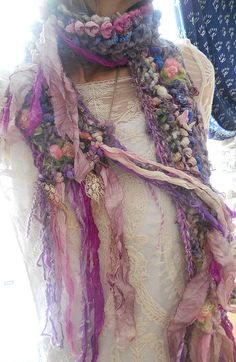rustic soft handknit artyarn boho faerie fantasy by beautifulplace