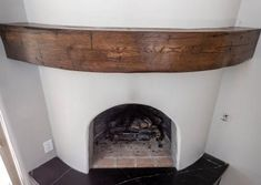 Reclaimed Curved Mantel, we love unique spaces, this beehive fireplace was a great place to put a reclaimed curved mantel. Custom Wood, Barn Wood, Great Places, Wood Projects, Woodworking
