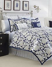 Palmetto Bay by Nautica brings the beauty of the coast into your bedroom with deep ocean blues and a striking paisley design. Queen Comforter Sets, Bedding Sets, King Comforter, Dream Bedroom, Master Bedroom, Master Suite, Yellow Accent Walls, Affordable Carpet, Palmetto Bay