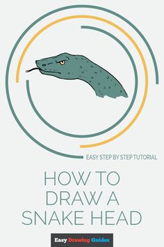 Learn to draw a snake head. This step-by-step tutorial makes it easy. Kids and beginners alike can now draw a great looking snake head. Snake Sketch, Snake Drawing, Drawing Tutorials For Kids, Popular Cartoons, Reference Images, Step By Step Drawing, Learn To Draw, Easy Drawings, Animal Drawings