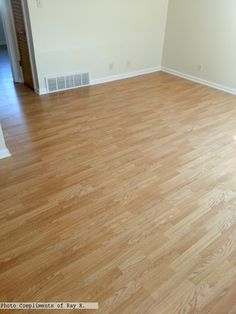 3-strip laminate flooring Photo compliments: Ray K.  #laminate #3strip