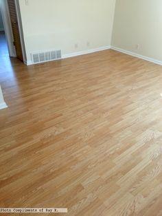 3-strip laminate flooring Photo compliments: Ray K.  #laminate #3strip