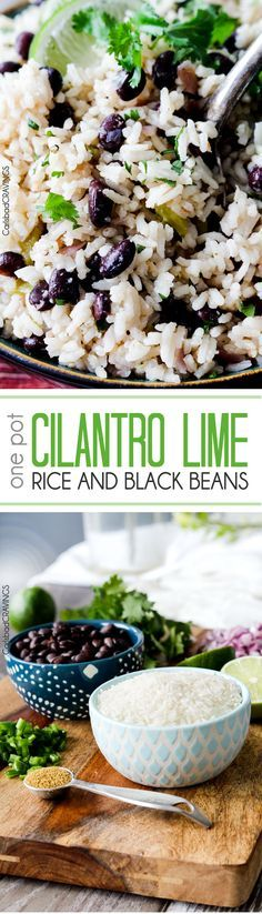 Cilantro Lime Rice and Black Beans (optional) simmered with jalapenos, green chilies and red onion spiked with lime and cilantro for the most satisfying Mexican rice you will want to serve with everything. Easy to dress up with cheese, tomatoes, avocado or sour cream.