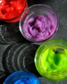 Activities: Make Homemade Fingerpaint, Made from stuff you most likely already have in your kitchen.  Although I would use natural colors.